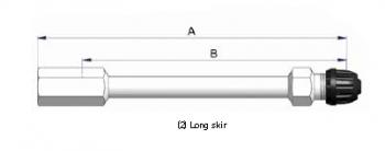 Прямой никелированный жесткий удлинитель  S-4551-2